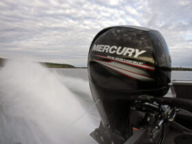 Mercury Marine's new 150 HP four stroke uses 15% less moving parts than some of their competitors helping to make it one of the lightest four stroke 150's on the market.