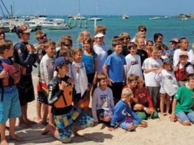 All 33 Optimist Sailors. Photo: Karen Stanton
