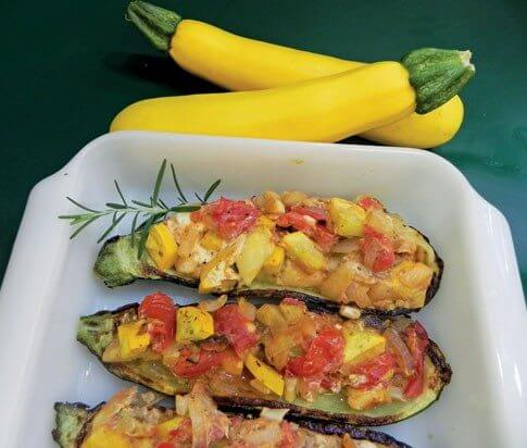 The recipe for Mediterranean Stuffed Zucchini
