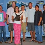 Cruiser Crews (third left), owner of Cowpoke, 61-Viking and winner of the 40th Bahamas Billfish Championship. Photo courtesy of the Bahamas Billfish Championship