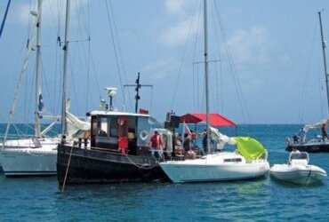 The Petite Calivigny Yacht Club (PCYC) introduced a new event on Father's Day this year – a boat raft-up and barbecue at Glover Island.