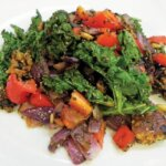 KALE, BLACK BEANS, RED PEPPERS & PINE NUTS