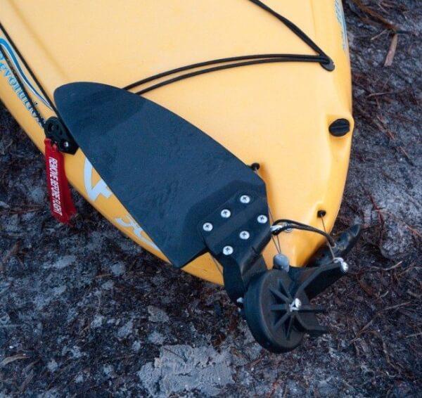A rudder system found on Hobie Kayak