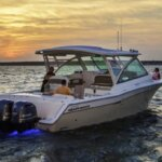 The Grady-White Freedom 375 is a perfect fit for fishing or family fun. Photo Courtesy of Grady-White Boats