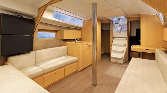 According to the company, the sailboat offers a level of customization not seen before in this size.