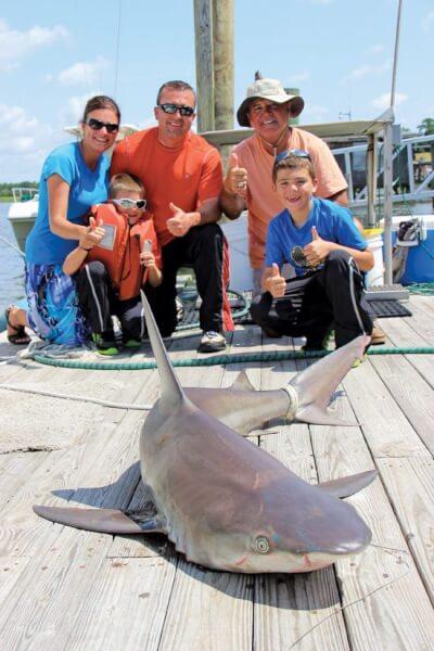 Remington-Shark-catching-Family
