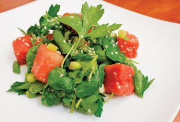 Watermelon and Watercress Salad with Shallot-Citrus Dressing