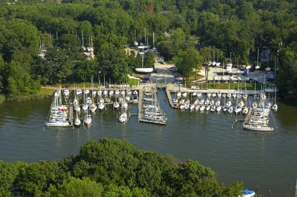Annapolis, Md. Minutes from historic downtown Annapolis, this boatyard on Whitehall Creek offers Hinckley and non-Hinckley owners a complete portfolio of essential yacht services. No marina facilities.