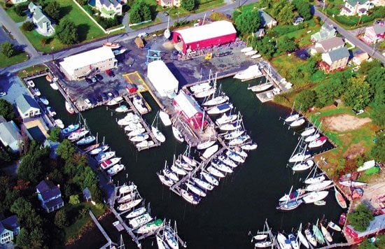 Oxford, Md. The Hinckley yard in Oxford, located on Maryland's Eastern Shore, has served boaters for nearly a decade. There's a marina with seasonal dockage and storage, and a full range of yacht services.