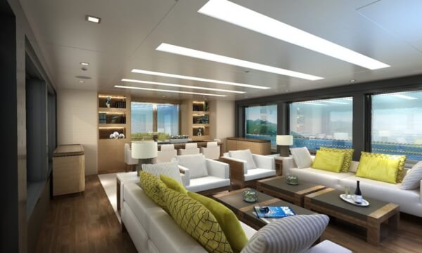 The spacious interior could accommodate 8 guests in ultimate comfort.