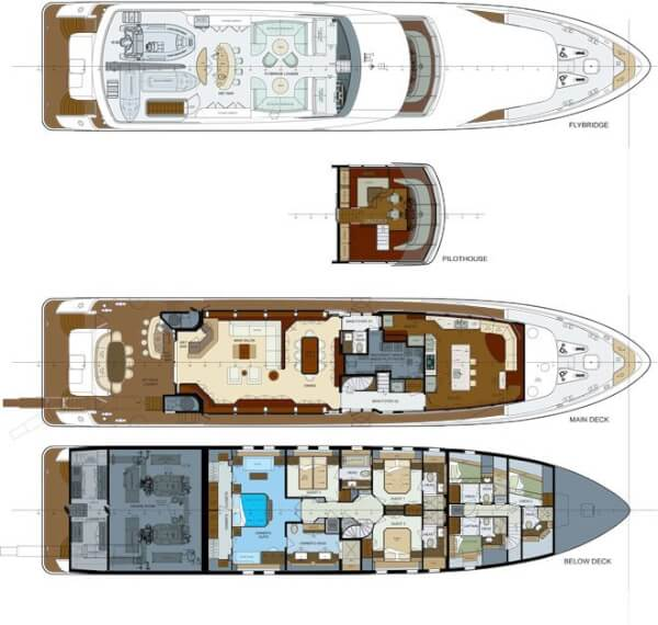 Layout of Trinity Yachts' Finish Line