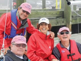 The team representing the U.S. Virgin Islands (from left): Tony Sanpere, Jan Robinson, John Foster and David Flaherty (front)