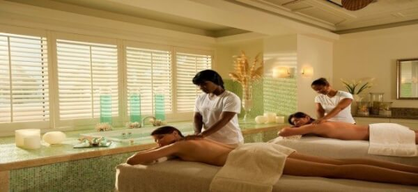 DO WE HAVE A FULL-SERVICE SPA?  BUT OF COURSE! Our nternationally amous Red Lane ® Spa and Fittness Center is   a great place for our yacht visitors to simply unwind or get themselves reinvigorated.  (Photo courtesy of Sandals Emerald   Bay, Great Exuma, Bahamas)