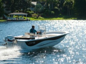 Evinrude's New 90 HP HO E-Tec on the newly equipped Carolina Skiff 198 DKV.