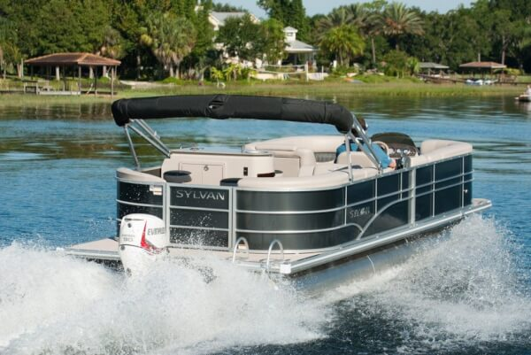 The 2014 Sylvan 8522 PB powered with the all new 90 HP pontoon series E-Tec.