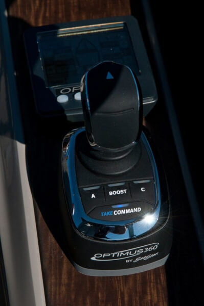 The Heart of the Optimus 360 Joystick Control system is the joystick control and the CANtrak display.