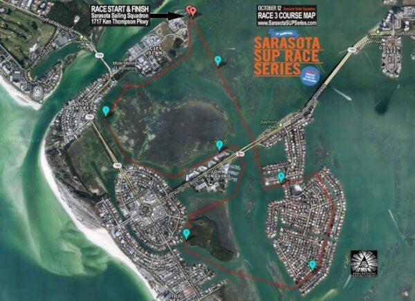 Sarasota SUP Oct 12 Course Map
