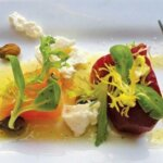 Beets with goat cheese and citrus honey vinaigrette