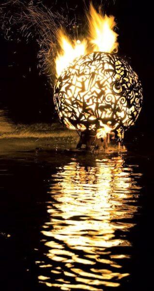 Trellis Bay Fire Ball Burning on New Year's Eve. Photo: Jeremy Wright