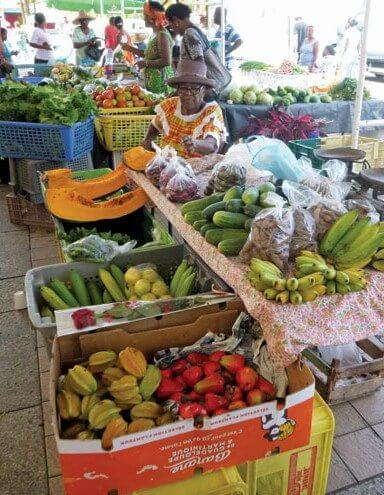 Local produce is always reasonably priced throughout the islands. Photo by Rosie Burr
