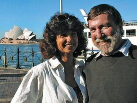 Carolyn and Fatty in Sydney, Australia 2001