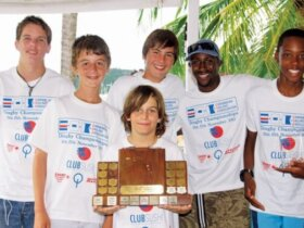 Team BVI - Caribbean Dinghy Champions 2013. Photo: Kevin Johnson - www.kevinjohnsonphotography.com