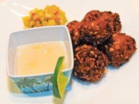 Zazo's winning dish – Crunchy Coconut Shrimp Fritters. Photos Dean Barnes