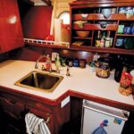 The totally refitted galley aboard Back Again. Photography By Glenn Hayes