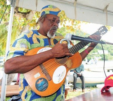 Feliciano 'Foxy' Callwood performs two songs at the ceremony. Photo by Todd VanSickle