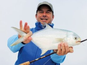 A pompano is a trophy fish from the Texas Gulf coast. Photo By Jeff Dennis
