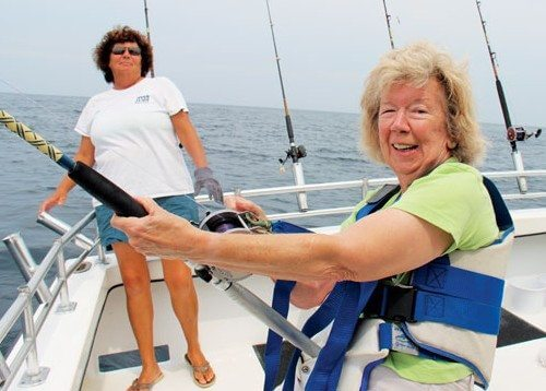 Jan Guidage is fighting a big one! Captain Kathy Brown is standing by to assist