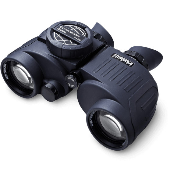 A pair of excellent binoculars such as these Steiner Commander Global binoculars with built in compass would be a happy addition to any helm.