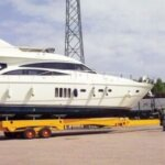 The new boat trailer at Curaçao Marine