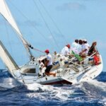 Bernie Even-Wong drives his Mumm 36 High Tension to windward