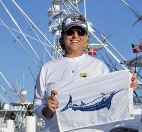New BBC president Jennifer Dudas after her blue marlin release. Credit: BBC