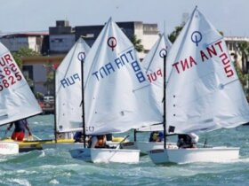 Optimists race in San Juan Bay. Credit: Carlos Lee
