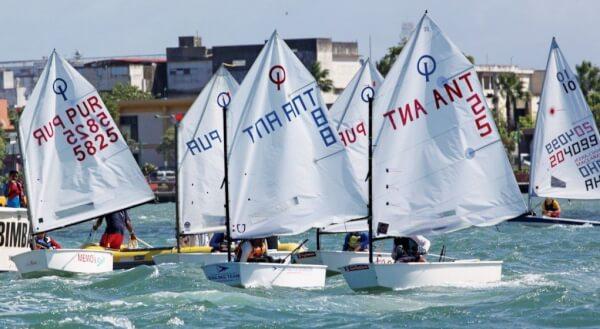 Optimists race in San Juan Bay. Credit: Carlos Lee