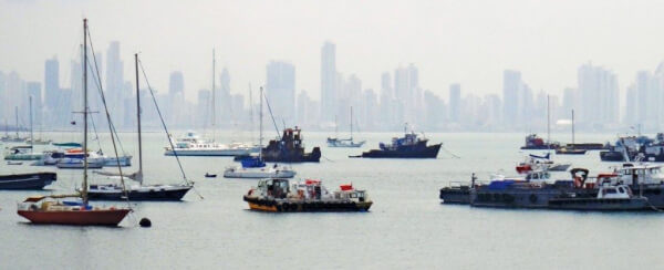 Panama City from the Amador Causeway overlooking the north anchorage