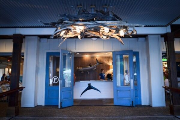 "The dockside entry to Orange Beach Marina's new restaurant ""Fisher's"""