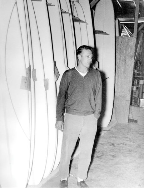Hobie used Balsa wood to shape surfboards until 1958 also shaping the culture. Photo Courtesy of the Alter family