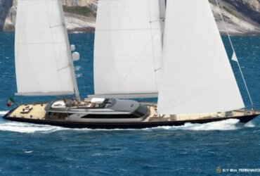 60m Perini Navi ketch, hull number C.2232