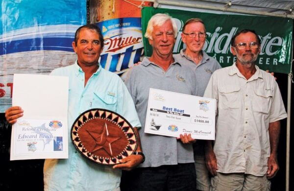 TwoFerSure, Top Boat in the Golden Hook Challenge (from left) Edward Beach (Top Angler), Tom Sedgwick, Jim Collington and Steve Smith. Photo: Alda Anduze