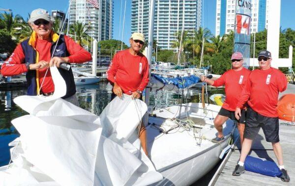 U.S. Virgin Island Team. From left: Coach John Foster, Tony Sanpere, David Flaherty and Bob Blackwell