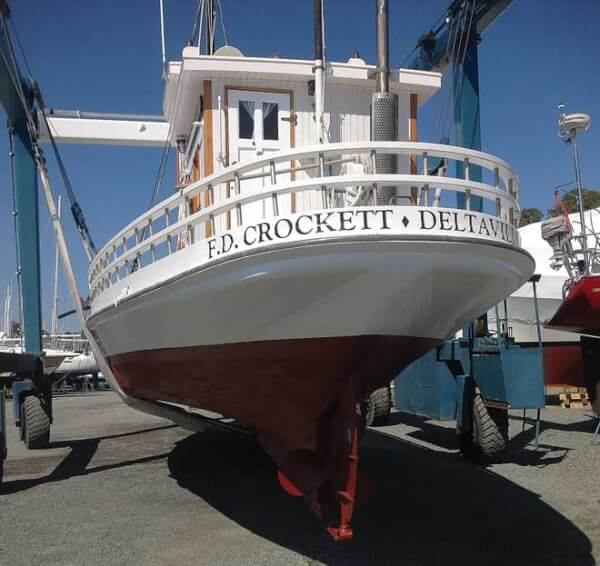 The Annual maintenance on the F.D. Crockett is finished and she's ready for another season's the Museum's premier ambassador around the Bay.