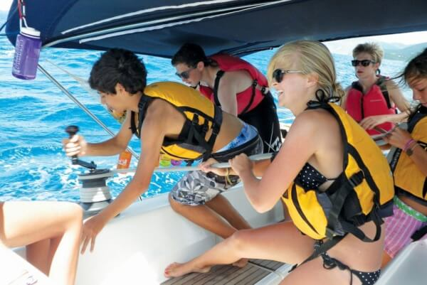 Youngsters at Sail Caribbean learn the ropes