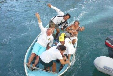 The Crew Celebrating