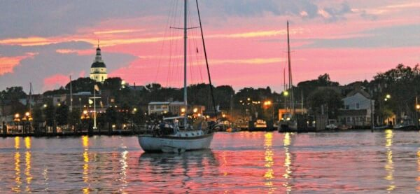Sunset over Annapolis. Photo Credit: Terry Boram