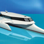 Artist's impression of the proposed power trimaran. Photos courtesy of Gold Coast Yachts