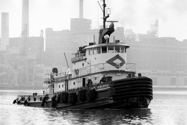 The old Curtis Bay Company's CAPE HENLOPEN in Baltimore Harbor. Photo by Captain Bill Eggert