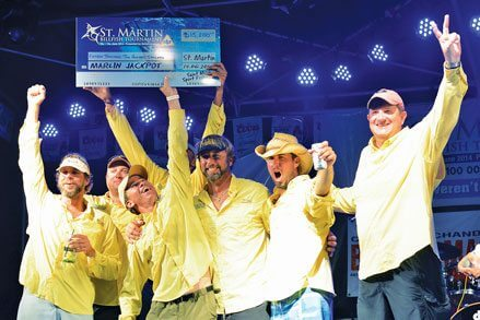 Living the Dream won the optional winner-takes-all Marlin Jackpot of US$15,000. Photo courtesy of the Saint Martin Sport Fishing Association